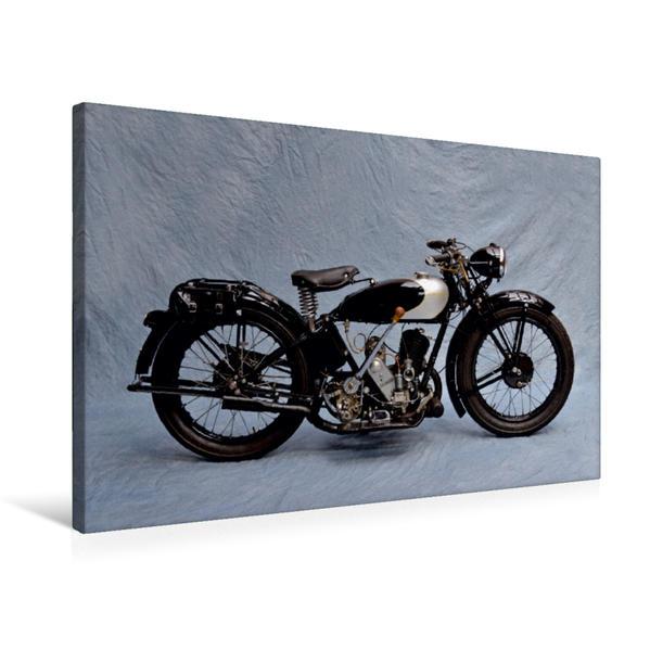 Premium Textil-Leinwand 75 cm x 50 cm quer, Zündapp Z 300 Baujahr 1929 | Wandbild, Bild auf Keilrahmen, Fertigbild auf echter Leinwand, Leinwanddruck - Coverbild