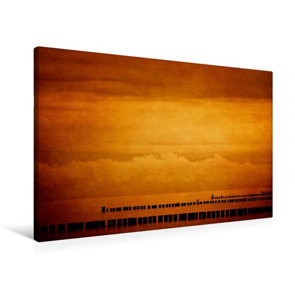 Premium Textil-Leinwand 90 cm x 60 cm quer, Meeresansicht | Wandbild, Bild auf Keilrahmen, Fertigbild auf echter Leinwand, Leinwanddruck - Coverbild