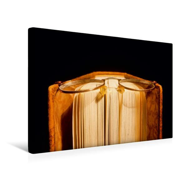 Premium Textil-Leinwand 45 cm x 30 cm quer, Ein Motiv aus dem Kalender Welt der Bücher | Wandbild, Bild auf Keilrahmen, Fertigbild auf echter Leinwand, Leinwanddruck - Coverbild