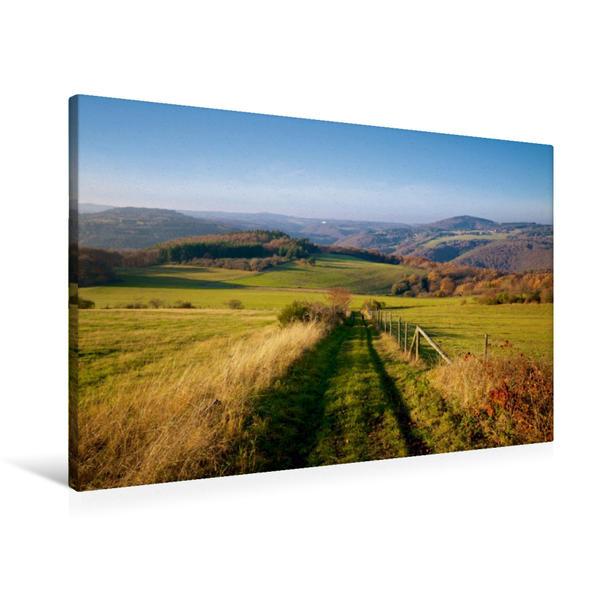 Premium Textil-Leinwand 90 cm x 60 cm quer, Ein Motiv aus dem Kalender Traumhafte Wege durch die Eifel | Wandbild, Bild auf Keilrahmen, Fertigbild auf echter Leinwand, Leinwanddruck - Coverbild