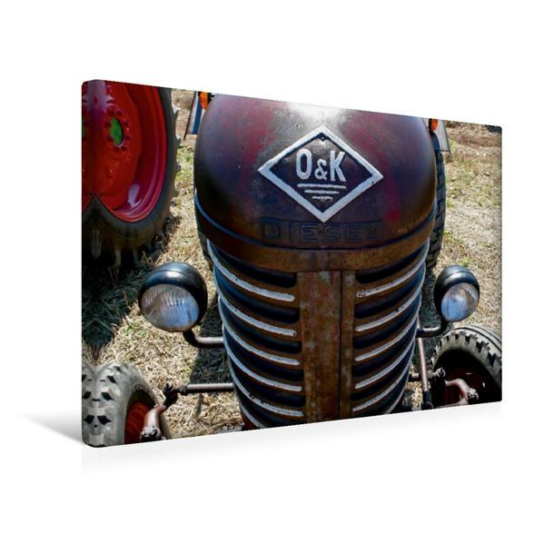 Premium Textil-Leinwand 45 cm x 30 cm quer, Ein Motiv aus dem Kalender Traktoren kraftvolle Freunde   Wandbild, Bild auf Keilrahmen, Fertigbild auf echter Leinwand, Leinwanddruck - Coverbild