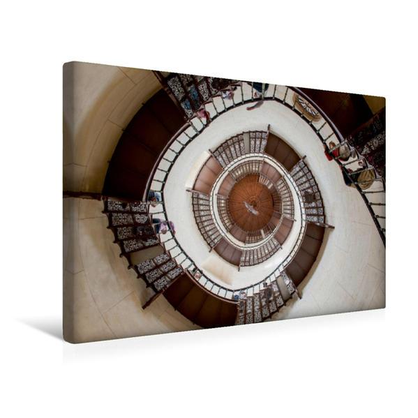 Premium Textil-Leinwand 45 cm x 30 cm quer, Die Wendeltreppe im Jagdschloss Granitz. | Wandbild, Bild auf Keilrahmen, Fertigbild auf echter Leinwand, Leinwanddruck - Coverbild