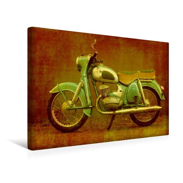 Premium Textil-Leinwand 45 cm x 30 cm quer, DKW RT 175 VS   Wandbild, Bild auf Keilrahmen, Fertigbild auf echter Leinwand, Leinwanddruck - Coverbild