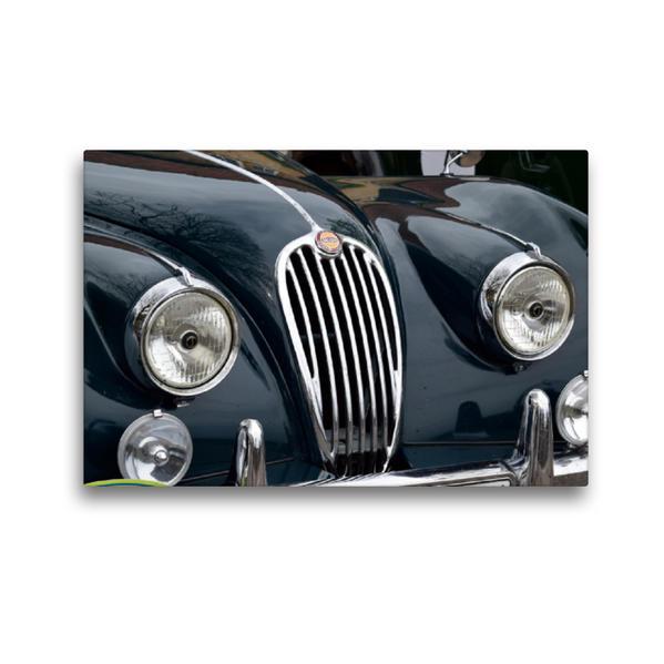 Premium Textil-Leinwand 45 cm x 30 cm quer, Kühlergrill Jaguar | Wandbild, Bild auf Keilrahmen, Fertigbild auf echter Leinwand, Leinwanddruck - Coverbild