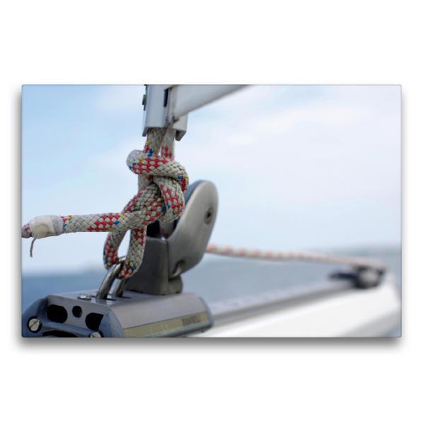 Premium Textil-Leinwand 75 cm x 50 cm quer, Unterlieksstrecker an der Baumnock | Wandbild, Bild auf Keilrahmen, Fertigbild auf echter Leinwand, Leinwanddruck - Coverbild