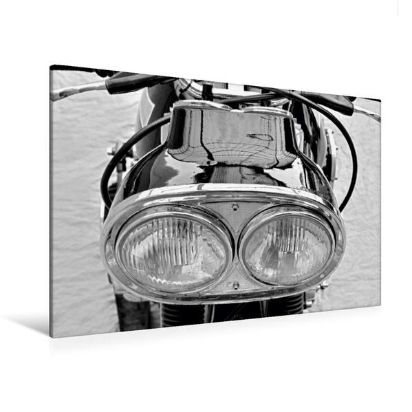 Premium Textil-Leinwand 120 cm x 80 cm quer, Ein Motiv aus dem Kalender Münch Mammut TT in schwarzweiss | Wandbild, Bild auf Keilrahmen, Fertigbild auf echter Leinwand, Leinwanddruck - Coverbild