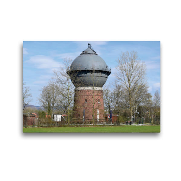 Premium Textil-Leinwand 45 cm x 30 cm quer, Wasserturm   Wandbild, Bild auf Keilrahmen, Fertigbild auf echter Leinwand, Leinwanddruck - Coverbild