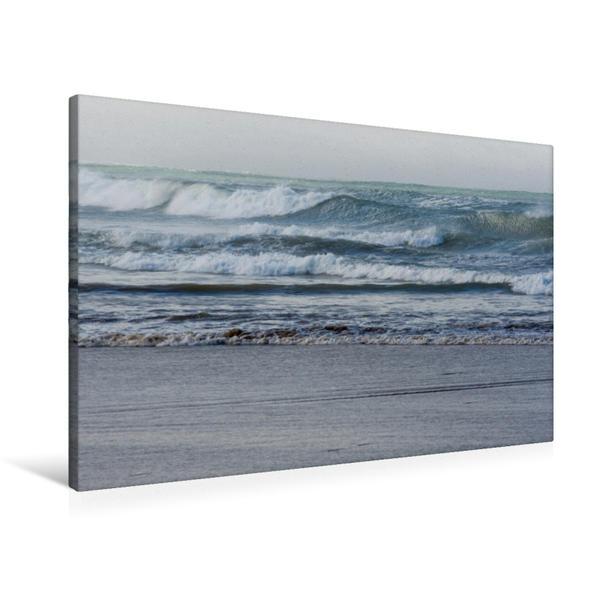 Premium Textil-Leinwand 90 cm x 60 cm quer, Ein Motiv aus dem Kalender Emotionale Momente: Meeresrauschen | Wandbild, Bild auf Keilrahmen, Fertigbild auf echter Leinwand, Leinwanddruck - Coverbild