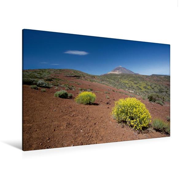 Premium Textil-Leinwand 120 cm x 80 cm quer, Teneriffa - Blick auf den Teide   Wandbild, Bild auf Keilrahmen, Fertigbild auf echter Leinwand, Leinwanddruck - Coverbild
