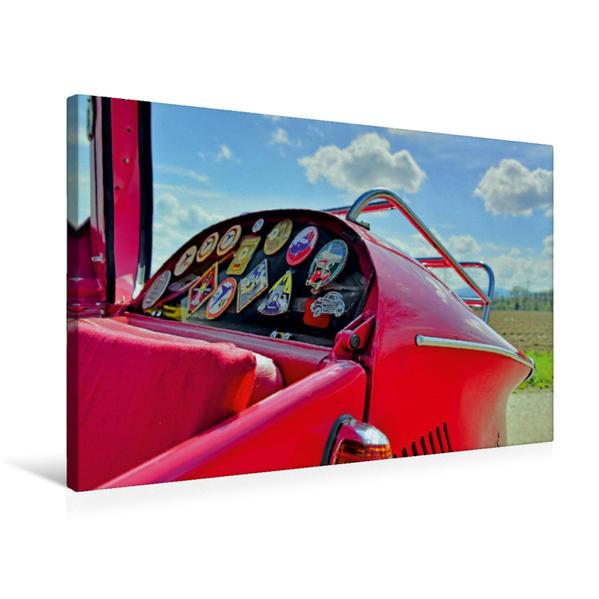 Premium Textil-Leinwand 75 cm x 50 cm quer, Ein Motiv aus dem Kalender Messerschmitt KR 200 Kabinenroller   Wandbild, Bild auf Keilrahmen, Fertigbild auf echter Leinwand, Leinwanddruck - Coverbild