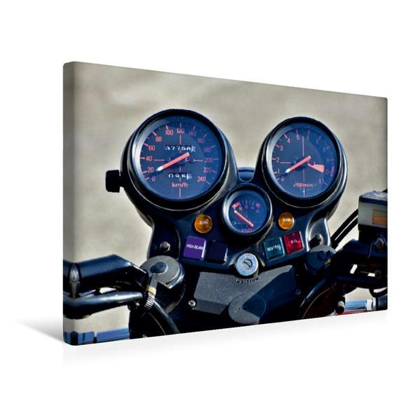 Premium Textil-Leinwand 45 cm x 30 cm quer, Ein Motiv aus dem Kalender Honda CBX 1000 | Wandbild, Bild auf Keilrahmen, Fertigbild auf echter Leinwand, Leinwanddruck - Coverbild