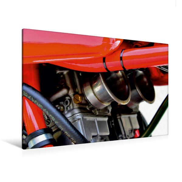 Premium Textil-Leinwand 120 cm x 80 cm quer, Ein Motiv aus dem Kalender Ducati 500 Sport Desmo | Wandbild, Bild auf Keilrahmen, Fertigbild auf echter Leinwand, Leinwanddruck - Coverbild