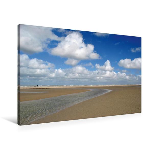 Premium Textil-Leinwand 90 cm x 60 cm quer, Ein Motiv aus dem Kalender Maritime Nordseeimpressionen   Wandbild, Bild auf Keilrahmen, Fertigbild auf echter Leinwand, Leinwanddruck - Coverbild