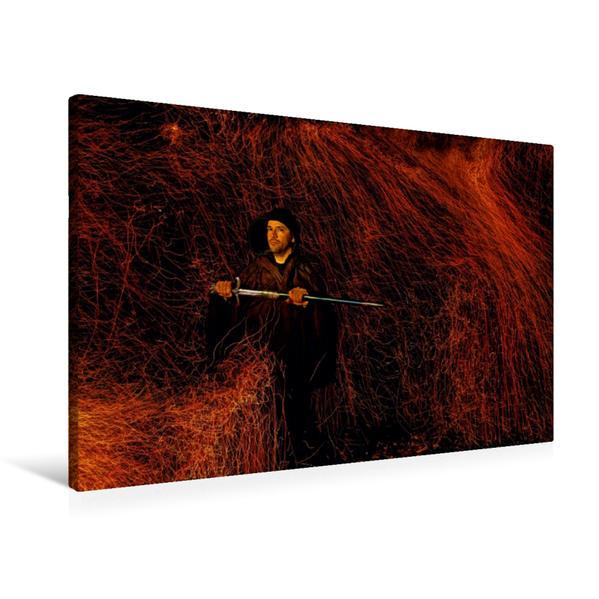 Premium Textil-Leinwand 90 cm x 60 cm quer, Firestorm | Wandbild, Bild auf Keilrahmen, Fertigbild auf echter Leinwand, Leinwanddruck - Coverbild