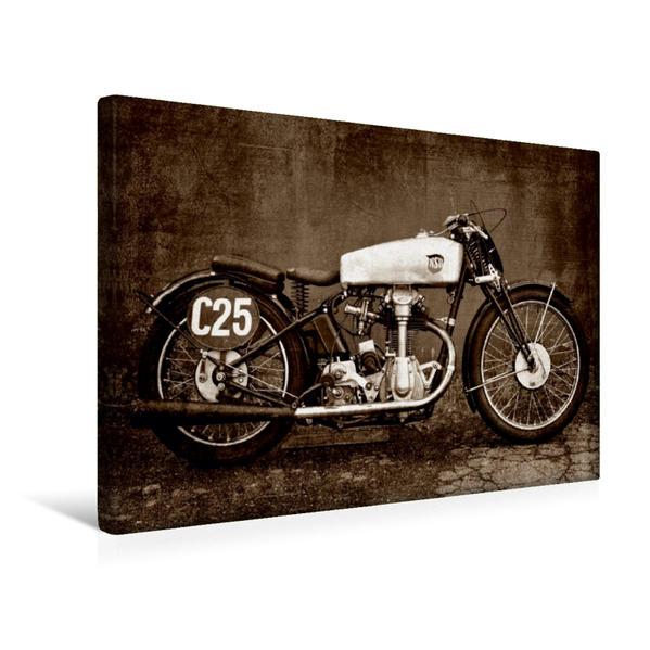 Premium Textil-Leinwand 45 cm x 30 cm quer, NSU Bullus SSR 350 | Wandbild, Bild auf Keilrahmen, Fertigbild auf echter Leinwand, Leinwanddruck - Coverbild
