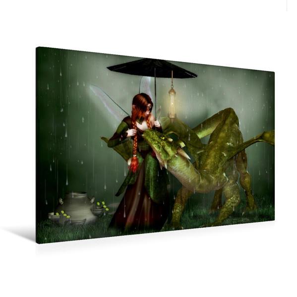 Premium Textil-Leinwand 120 cm x 80 cm quer, Komm stell dich unter | Wandbild, Bild auf Keilrahmen, Fertigbild auf echter Leinwand, Leinwanddruck - Coverbild