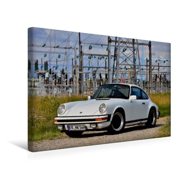 Premium Textil-Leinwand 45 cm x 30 cm quer, Ein Motiv aus dem Kalender Porsche 911 SC pure Ästhetik | Wandbild, Bild auf Keilrahmen, Fertigbild auf echter Leinwand, Leinwanddruck - Coverbild