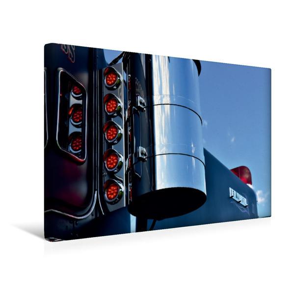 Premium Textil-Leinwand 45 cm x 30 cm quer, Ein Motiv aus dem Kalender Kenworth W900A EXTHD | Wandbild, Bild auf Keilrahmen, Fertigbild auf echter Leinwand, Leinwanddruck - Coverbild