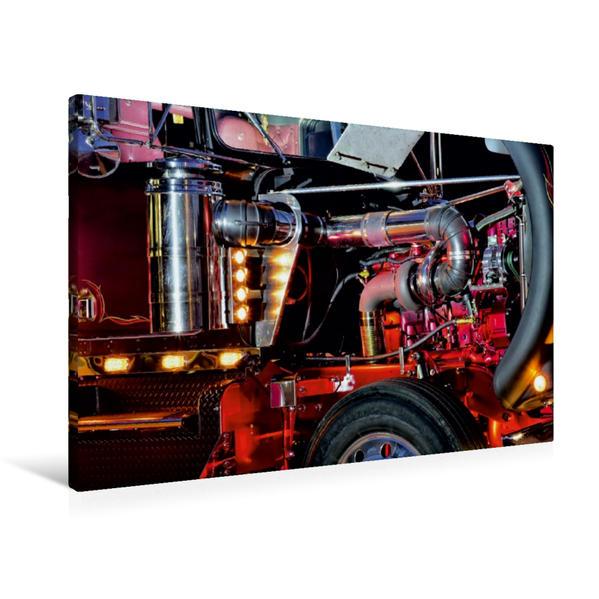 Premium Textil-Leinwand 90 cm x 60 cm quer, Ein Motiv aus dem Kalender Kenworth W900A EXTHD | Wandbild, Bild auf Keilrahmen, Fertigbild auf echter Leinwand, Leinwanddruck - Coverbild
