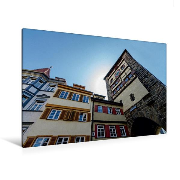 Premium Textil-Leinwand 120 cm x 80 cm quer, Wolfstor | Wandbild, Bild auf Keilrahmen, Fertigbild auf echter Leinwand, Leinwanddruck - Coverbild