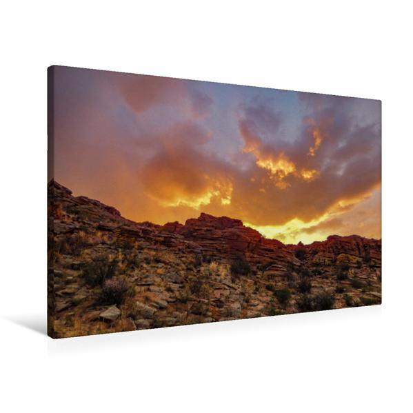 Premium Textil-Leinwand 90 cm x 60 cm quer, Baga-Gazrin-Tschuluu | Wandbild, Bild auf Keilrahmen, Fertigbild auf echter Leinwand, Leinwanddruck - Coverbild