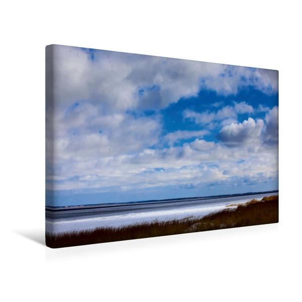Premium Textil-Leinwand 45 cm x 30 cm quer, Ein Motiv aus dem Kalender Ostsee im Winter | Wandbild, Bild auf Keilrahmen, Fertigbild auf echter Leinwand, Leinwanddruck - Coverbild
