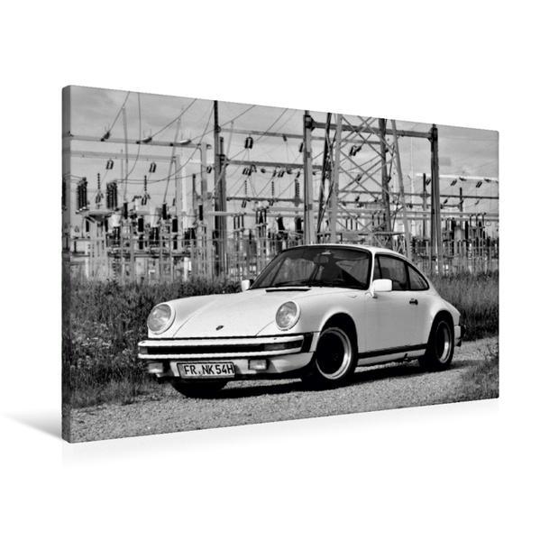 Premium Textil-Leinwand 90 cm x 60 cm quer, Ein Motiv aus dem Kalender Porsche 911 SC | Wandbild, Bild auf Keilrahmen, Fertigbild auf echter Leinwand, Leinwanddruck - Coverbild