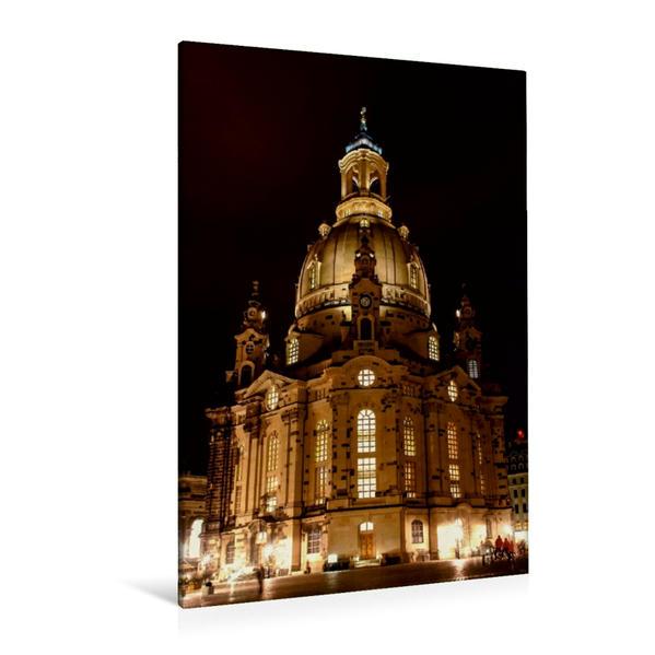 Premium Textil-Leinwand 80 cm x 120 cm  hoch, Ein Motiv aus dem Kalender Frauenkirche Dresden | Wandbild, Bild auf Keilrahmen, Fertigbild auf echter Leinwand, Leinwanddruck - Coverbild