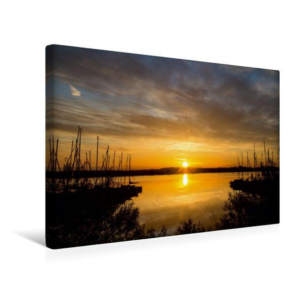 Premium Textil-Leinwand 45 cm x 30 cm quer, Fränkisches Seenland   Wandbild, Bild auf Keilrahmen, Fertigbild auf echter Leinwand, Leinwanddruck - Coverbild
