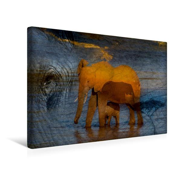 Premium Textil-Leinwand 45 cm x 30 cm quer, Ein Motiv aus dem Kalender Emotionale Momente: African Dreams | Wandbild, Bild auf Keilrahmen, Fertigbild auf echter Leinwand, Leinwanddruck - Coverbild