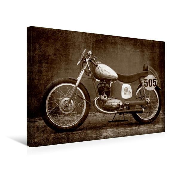 Premium Textil-Leinwand 45 cm x 30 cm quer, Puch 125 SL | Wandbild, Bild auf Keilrahmen, Fertigbild auf echter Leinwand, Leinwanddruck - Coverbild