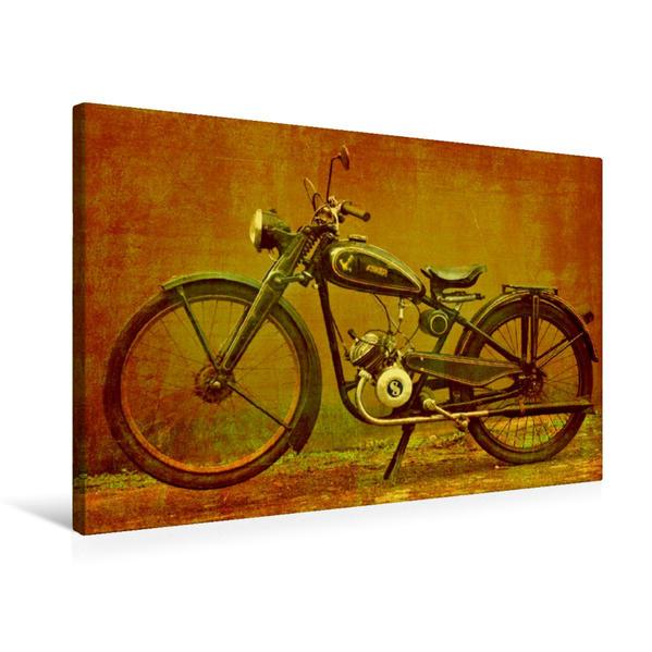 Premium Textil-Leinwand 75 cm x 50 cm quer, Anker 98 | Wandbild, Bild auf Keilrahmen, Fertigbild auf echter Leinwand, Leinwanddruck - Coverbild