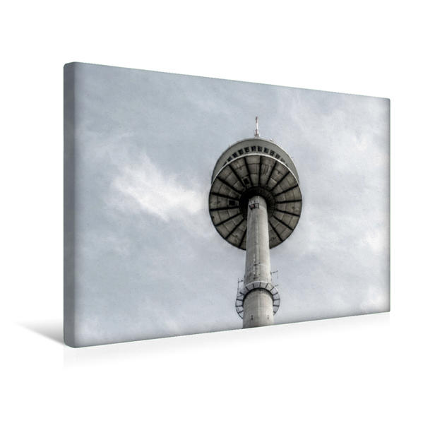 Premium Textil-Leinwand 45 cm x 30 cm quer, Langer Heinrich, Funkturm | Wandbild, Bild auf Keilrahmen, Fertigbild auf echter Leinwand, Leinwanddruck - Coverbild
