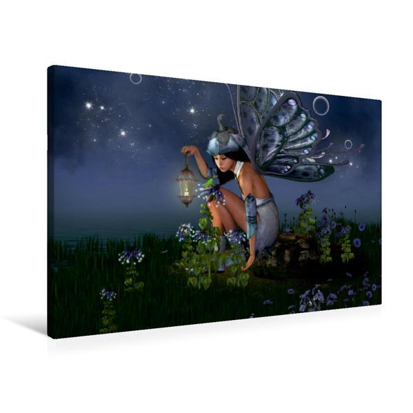 Premium Textil-Leinwand 90 cm x 60 cm quer, Elfenlichter | Wandbild, Bild auf Keilrahmen, Fertigbild auf echter Leinwand, Leinwanddruck - Coverbild