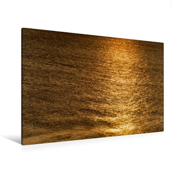 Premium Textil-Leinwand 120 cm x 80 cm quer, Ein Motiv aus dem Kalender Emotionale Momente: Sylt in Gold. | Wandbild, Bild auf Keilrahmen, Fertigbild auf echter Leinwand, Leinwanddruck - Coverbild