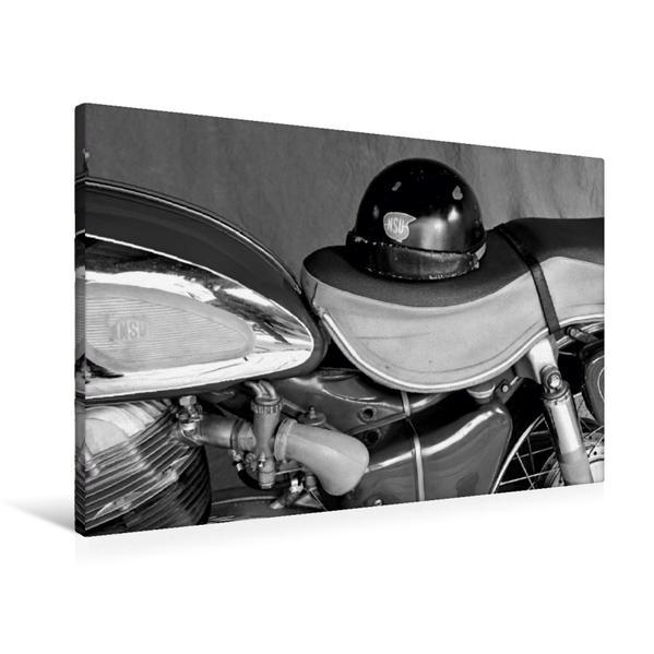 Premium Textil-Leinwand 90 cm x 60 cm quer, Ein Motiv aus dem Kalender NSU Supermax in schwarzweiss | Wandbild, Bild auf Keilrahmen, Fertigbild auf echter Leinwand, Leinwanddruck - Coverbild
