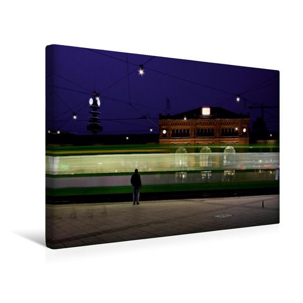 Premium Textil-Leinwand 45 cm x 30 cm quer, Hauptbahnhof | Wandbild, Bild auf Keilrahmen, Fertigbild auf echter Leinwand, Leinwanddruck - Coverbild