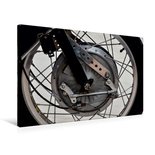 Premium Textil-Leinwand 75 cm x 50 cm quer, Ein Motiv aus dem Kalender Honda CB 72   Wandbild, Bild auf Keilrahmen, Fertigbild auf echter Leinwand, Leinwanddruck - Coverbild