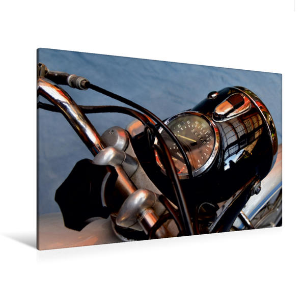 Premium Textil-Leinwand 120 cm x 80 cm quer, Ein Motiv aus dem Kalender BMW R 60/5   Wandbild, Bild auf Keilrahmen, Fertigbild auf echter Leinwand, Leinwanddruck - Coverbild