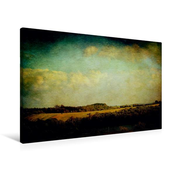 Premium Textil-Leinwand 90 cm x 60 cm quer, Vintage Landschaft | Wandbild, Bild auf Keilrahmen, Fertigbild auf echter Leinwand, Leinwanddruck - Coverbild