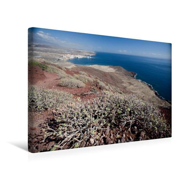 Premium Textil-Leinwand 45 cm x 30 cm quer, Teneriffa - Blick von Montana Roja auf die Südküste   Wandbild, Bild auf Keilrahmen, Fertigbild auf echter Leinwand, Leinwanddruck - Coverbild