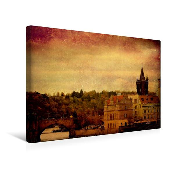 Premium Textil-Leinwand 45 cm x 30 cm quer, Prag | Wandbild, Bild auf Keilrahmen, Fertigbild auf echter Leinwand, Leinwanddruck - Coverbild
