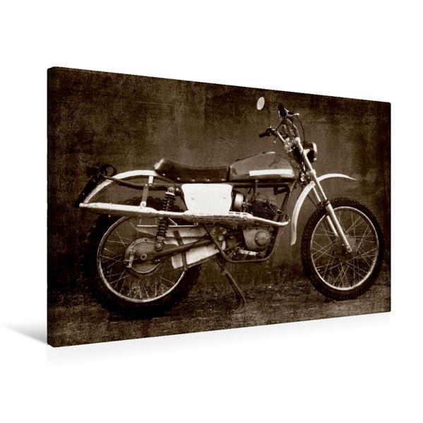 Premium Textil-Leinwand 75 cm x 50 cm quer, Moto Morini | Wandbild, Bild auf Keilrahmen, Fertigbild auf echter Leinwand, Leinwanddruck - Coverbild