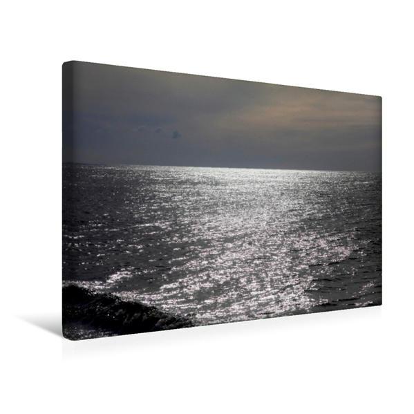 Premium Textil-Leinwand 45 cm x 30 cm quer, Ein Motiv aus dem Kalender Ostsee im Winter   Wandbild, Bild auf Keilrahmen, Fertigbild auf echter Leinwand, Leinwanddruck - Coverbild