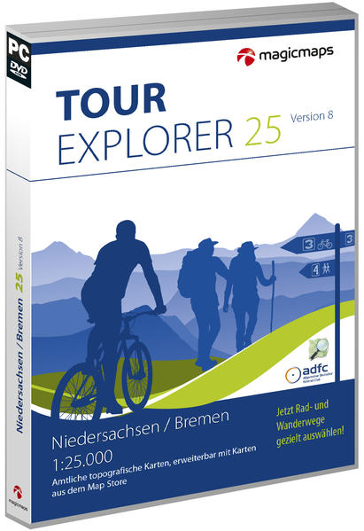 TOUR Explorer 25 Niedersachsen / Bremen, Version 8.0 - Coverbild
