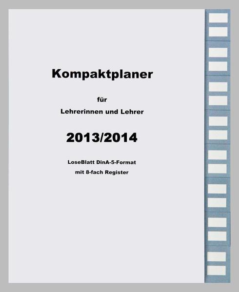 Kompaktplaner für Lehrerinnen und Lehrer 2014/2015 - Coverbild