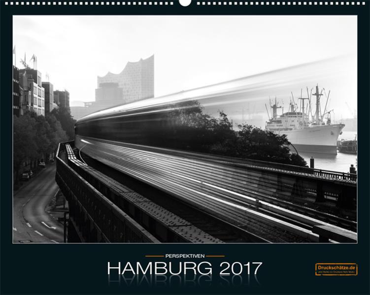 Hamburg Kalender 2017, Fotos in Schwarz-Weiß, DIN A3 - Coverbild