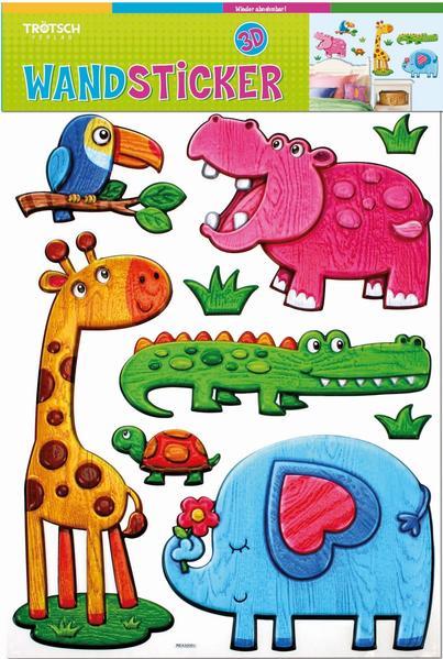 Wandsticker Tiere im Holzdesign - Coverbild
