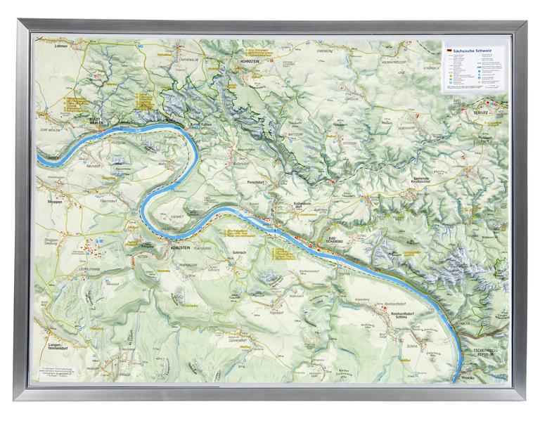 Sächsische Schweiz  1:50.000 mit Rahmen - Coverbild