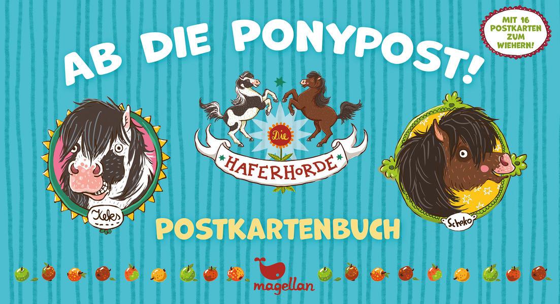 Die Haferhorde – Ab die Ponypost! – Postkartenbuch - Coverbild